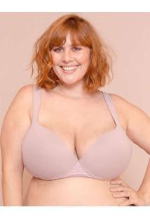 Sutiã Alças Soft Busto Médio Plus Size Nude-56 Ros