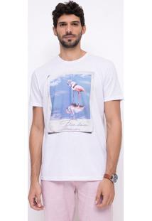 Camiseta Com Estampa Flamingo
