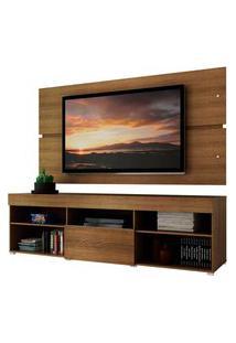Rack Com Painel Para Tv Até 65 Polegadas Madesa Havaí 1 Porta - Rustic Marrom