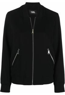 Karl Lagerfeld Jaqueta Corta-Vento Com Logo - Preto