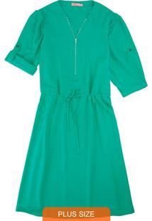 Vestido Verde Curto Com Zíper
