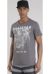 "Camiseta ""Whatever"" Chumbo"