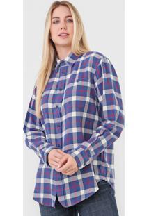 Camisa Polo Ralph Lauren Reta Xadrez Azul