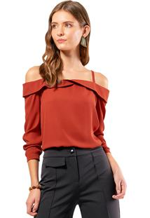 Blusa Mx Fashion Ombro A Ombro Doraty Terra