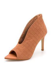 Sapato Scarpin Abotinado Croco Salto Alto Fino Conforto