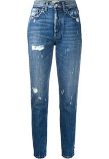 Boyish Denim Billy High Rise Slim Fit Jeans - Azul