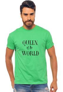 Camiseta Verde Estampada Masculina Joss - Queen Of The World