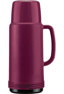 Garrafa Térmica Invicta Plástico Ideal Rosa