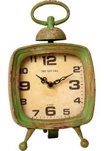 Relógio De Mesa Vintage Decorativo Cosmos De Metal