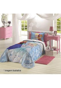 f4965424f9 ... Edredom Solteiro Frozen®- Azul Claro   Branco- 150X2Lepper