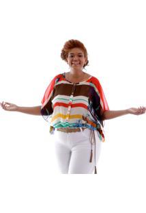 Camisa Alessa Estampa Flores Plus Size Vickttoria Vick Plus Size Vermelho