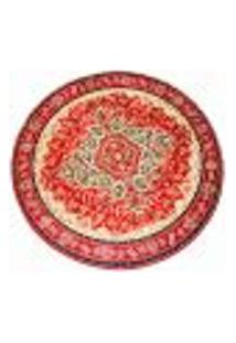 Tapete Veludo Marbella Cl101_6 Red 150 Cm Redondo