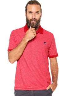 Camisa Polo Mr Kitsch Maga Curta Double Vermelha