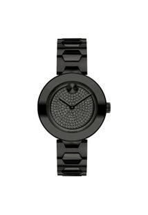Relógio Movado Feminino Aço Preto - 3600576