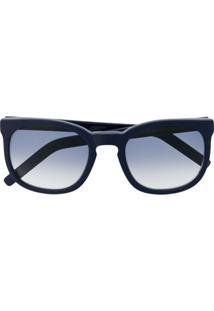 Cutler & Gross Óculos De Sol Quadrado - Azul