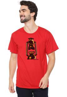Camiseta Eco Canyon Lamparina Vermelho