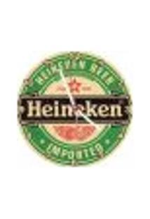 Relógio Decorativo Heineken Bolacha