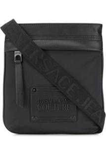 Versace Jeans Couture Bolsa Tiracolo Com Patch De Logo - Preto