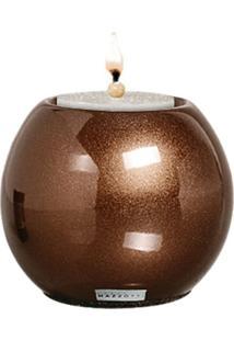 Castiçal De Cerâmica M 11X13X11 Bronze 37096 Mazzotti