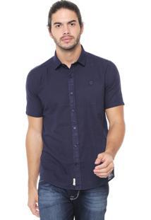 Camisa Timberland Reta Fresh Color Dark S Azul-Marinho
