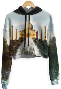 Blusa Cropped Moletom Feminina Over Fame Taj Mahal Md01 - Kanui