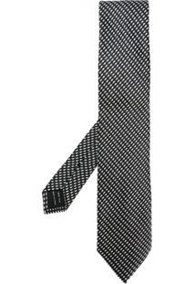 Tom Ford Gravata Com Padronagem - Preto