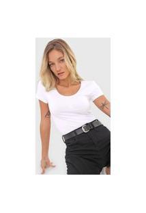 Blusa Calvin Klein Jeans Logo Branca