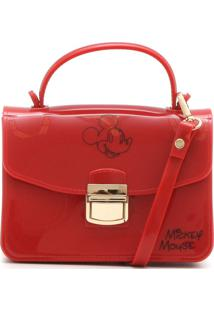 Bolsa Mickey Mouse Verniz Vermelha