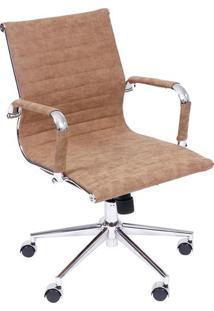 Cadeira Office Eames Retrô Esteirinha- Caramelo & Prateaor Design