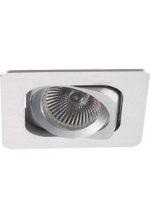 Spot Embutir Quadrado 2,5Cmx13Cm 120W Gu10 Bella Iluminação - Caixa Com 3 Unidade - Alumínio