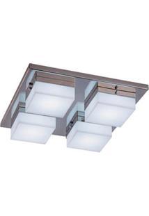 Plafon Cubo Quadrado Led 4X10W 220V 6400K Bronzearte