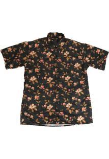 Camisa Outlawz Flowers Di Sant,Ana - Masculino-Preto