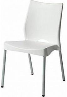 Cadeira Malba Base Fixa Pintada Cinza Cor Branco - 11608