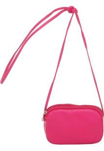 Mini Smart Bag Bolsa Luxo Transversal - Feminino-Rosa
