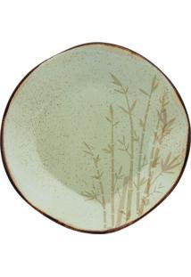 Conjunto 6 Pratos Rasos 27,5Cm Bambu Verde Oxford