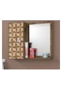 Espelheira Para Banheiro 1 Porta Acre Madeira E 3D