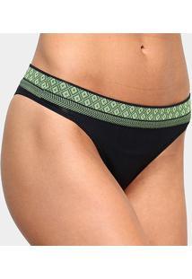 Calcinha Liz Tanga Sport Deluxe - Feminino-Preto+Verde