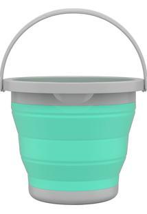 Balde Retrátil 5L - Flash Limp - Verde Agua