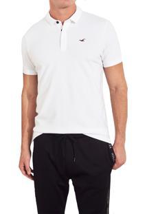Camiseta Polo Hollister Clássica Branca