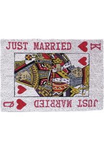 Capacho Deorando Com Classe Just Married Rei E Rainha Branco