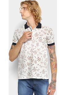 Camisa Polo Colcci Estampada Masculina - Masculino-Off White