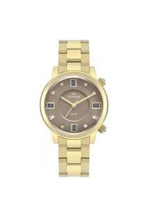 Relógio Technos Feminino Dourado Analógico 2039Bu4C