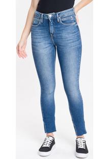 Calça Jeans Feminina Six Pockets Skinny Cintura Alta Azul Marinho Calvin Klein - 34