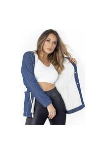Jaqueta Parka Jeans Forrada Ecolife
