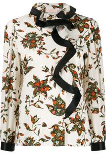Tory Burch Blusa Floral - Branco