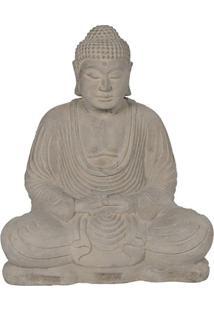 Escultura De Jardim Buda Em Cimento