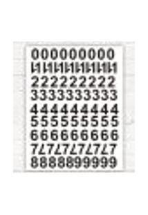 Adesivo Cartela Decorativa Numérico - M 48X35Cm