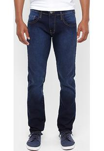 Calça Jeans Skinny Coca-Cola Stone Azulado Masculino - Masculino