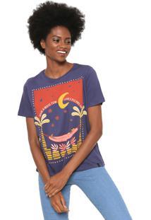 Camiseta Cantão Luar Azul-Marinho