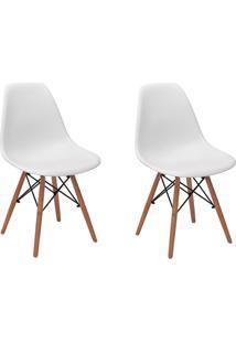 Cadeira E Banco De Jantar Impã©Rio Brazil Charles Eames Eiffel - Branco/Incolor - Dafiti